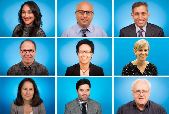 Nine researchers - Dr. Sakina Rizvi, Dr. George Yousef, Dr. Ron Wald, Dr. Andras Kapus, Dr. Wanrudee Isaranuwatchai, Dr. Jane Batt, Dr. Lisa Puchalski Ritchie, Dr. Jefferson Wilson and Dr. John Marshall