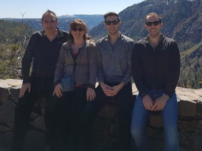 Elliot and Marilyn Bassin with their sons Monty and Andy.