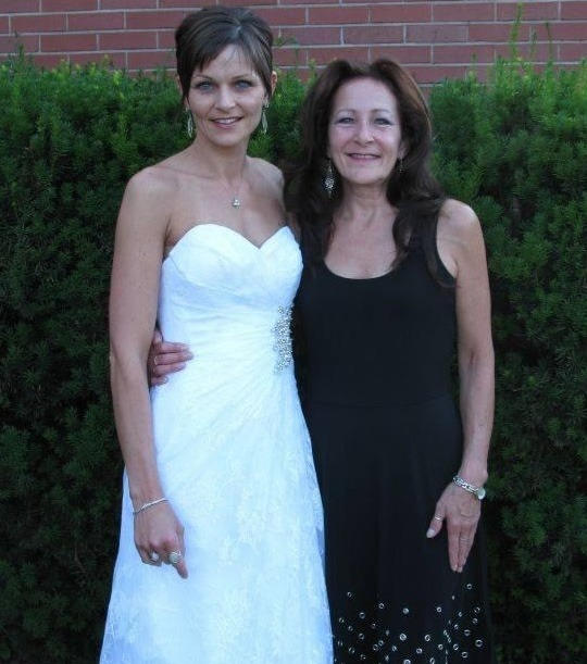 Jennifer and Dawn at Jennifer's wedding in the summer of 2014.